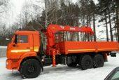Манипулятор вездеход 10 тонн на базе 3-осного КАМАЗ 43118